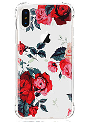 billige -Etui Til Apple iPhone X iPhone 8 iPhone 8 Plus Ultratyndt Transparent Mønster Bagcover Blomst Blødt TPU for iPhone X iPhone 8 Plus iPhone