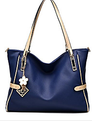 cheap -Women Bags PU Shoulder Bag Zipper for Casual All Seasons Blue White Black Blushing Pink Light Purple