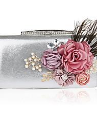 preiswerte -Damen Taschen PVC Abendtasche Blume für Hochzeit Veranstaltung / Fest Ganzjährig Schwarz Silber Rote Purpur Fuchsia