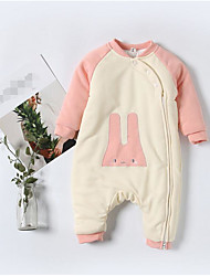 Baby Color Block One-Pieces,100%Cotton Fall Winter