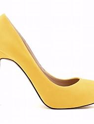 Femme Chaussures Daim Automne Hiver Confort Chaussures à Talons Talon Aiguille Bout pointu Pour Décontracté Rouge Vert Bleu Bleu clair