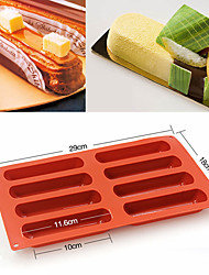 cheap -Silicone Eclair 8 Forms Baking Classic Collection Shapes Finger Non Stick Mold Cake Tools