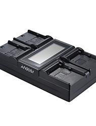 andoer lp-e6 lp-e6n np-f970 caricabatterie per fotocamera digitale a 4 canali con display lcd per canon e sony