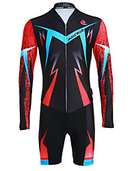 Malciklo Hombre Cycling Jersey Long Sleeve MTB Cool Lightning Pattern Triathlon Skinsuit Ropa Maillot Ciclismo Cycling Clothing