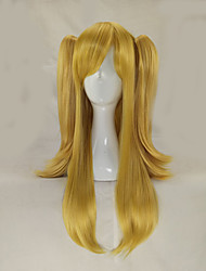 cheap -Synthetic Hair Wigs Straight With Ponytail Carnival Wig Halloween Wig Lolita Wig Cosplay Wig Long Blonde