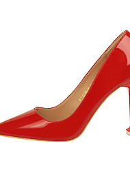 cheap -Women's Shoes Leatherette Spring / Fall Comfort Heels Stiletto Heel Pointed Toe for Party & Evening / Dress Red / Camel / Nude