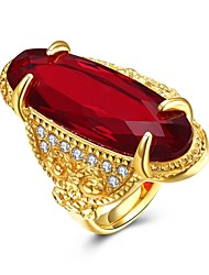 cheap -Women's Knuckle Ring Band Rings Crystal Fashion Vintage Stainless Steel Gold Plated Oval Irregular Jewelry For Party Formal