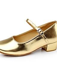 Da donna Scarpe da ballo bambino Similpelle Sandali Tacchi Sneaker Per interni Con fermaglio di chiusura Quadrato Oro Nero Argento Rosso