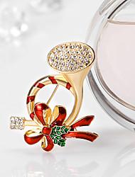 Недорогие -женские броши милый стиль chrismas rhinestone сплава цветок ювелирные изделия для подарков Рождество