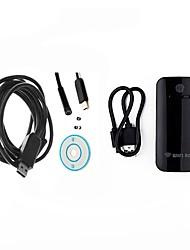 7mm lente wifi endoscopio usb cámara boroscopio impermeable ip67 inspección cam endoskop serpiente para ios android pc 5m cable duro