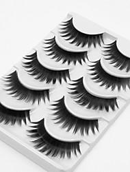baratos -5 Maquiagem para o Dia A Dia Tiras Completas de Cílios Grossa Alonga a Estremidade do Olho Acessórios para Maquiagem Alta qualidade Diário