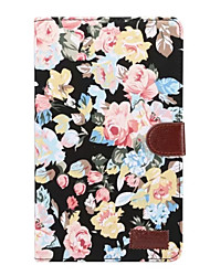 preiswerte -Hülle Für Samsung Galaxy Tab A 8.0 (2017) Kreditkartenfächer mit Halterung Flipbare Hülle Ganzkörper-Gehäuse Blume Hart Textil für Tab A