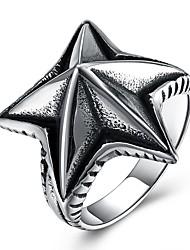 preiswerte -Herrn Statement-Ring , Silber Edelstahl Seestern überdimensional Hip-Hop Modisch Party Festtage Modeschmuck