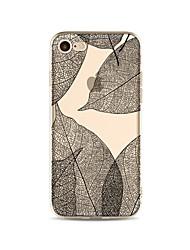Capinha Para iPhone X iPhone 8 Transparente Estampada Capa Traseira Árvore Macia TPU para iPhone X iPhone 8 Plus iPhone 8 iPhone 7 Plus