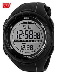 Недорогие -SKMEI Муж. электронные часы / Спортивные часы Повседневные часы Plastic Группа Кулоны Черный / Зеленый / Серый