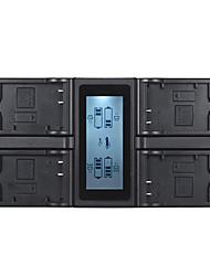 andoer lp-e17キャノン750d 760d反乱t6i t6s eos m3 / m5 / m6 / 800d / 77dのためのlcdディスプレイ付き4チャンネルデジタルカメラバッテリー充電器