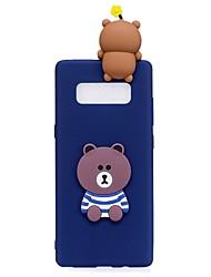 preiswerte -Hülle Für Samsung Galaxy Note 8 Muster Heimwerken Rückseite 3D Zeichentrick Cartoon Design Weich TPU für Note 8