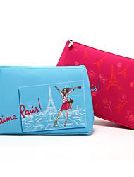 Cartoon Colorful Paris Eiffel Tower Clutch Cosmetic Bag Makeup Storage Bag 2 Color