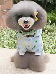 Недорогие -Собака Пижамы Одежда для собак Горошек Желтый / Синий Плюшевая ткань / Пух Костюм Для домашних животных На каждый день
