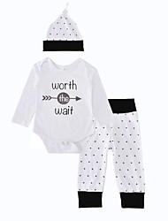 cheap -Baby Boys' Birthday Indoor Outdoor Casual/Daily Print Clothing Set, Cotton Winter Spring/Fall Dot Long Sleeves White