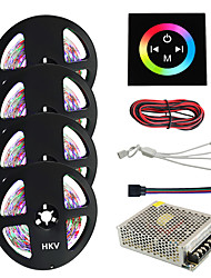 1Set HKV® 20M(4x5m) 1200LED 20M 3528SMD RGB Waterproof LED Strip Lighting Tape With Type Touch Screen Wall Controller