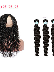 cheap -Brazilian Hair Remy Human Hair Loose Wave Human Hair Weaves Four-piece Suit