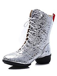 economico -Da donna Stivaletti da danza Pelle Nappa Sandali Sneaker Professionale Basso Oro Nero Argento Rosso