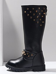 cheap -Girls' Shoes PU Winter Fashion Boots Boots for Black / Knee High Boots