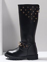 Fille Chaussures Polyuréthane Hiver Bottes à la Mode Bottes Bottes Pour Décontracté Noir