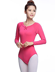 cheap -Ballet Women's Performance Cotton Long Sleeve Natural Leotard