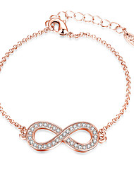 Women's Chain Bracelet Crystal Fashion Simple Style Alloy Infinity Jewelry For Party Work