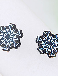abordables -Mujer Copo de Nieve 10pcs Pendientes cortos - Moda Blanco Aretes Para Navidad