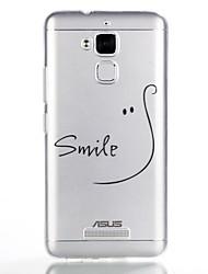 abordables -Funda Para Asus Diseños Cubierta Trasera Palabra / Frase Suave TPU para Asus Zenfone 3 Max ZC520TL