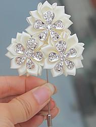 economico -Bouquet sposa Fiore all'occhiello Matrimonio Poliestere 2 cm ca.