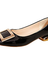 cheap -Women's Shoes PU Spring Fall Comfort Flats Square Toe For Casual Office & Career Blushing Pink Black