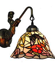 economico -diametro 20cm retro sirena paese tiffany parete luci vetro ombra soggiorno camera da letto lampada