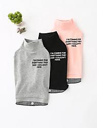 preiswerte -Hund Pullover Hundekleidung Lässig/Alltäglich Solide Schwarz Grau Rosa Kostüm Für Haustiere