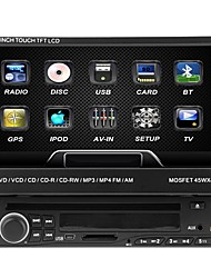cheap -7 inch 1 DIN 800 x 480 Windows CE 5.0 Car DVD Player  for universal Built-in Bluetooth Memory Storage Sounds Touch Screen Retractable