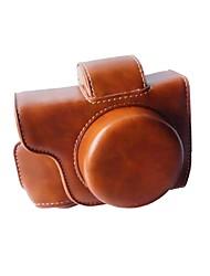 economico -Custodia per fotocamera em10ii (pelle di cavallo pazzesco) 12x11x7cm per fotocamera mini dslr di olympus em10ii