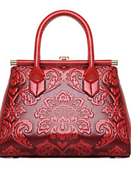 cheap -Women Bags PU leatherette Tote Zipper for Casual Summer All Seasons Red