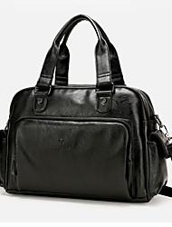cheap -Men Bags PU Tote Zipper for Casual Outdoor All Seasons Black