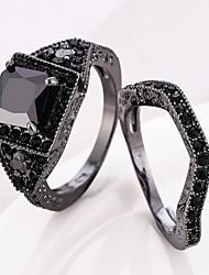 economico -Per uomo Fedine Anello a metà dito Zircone cubico Classico Di tendenza Elegant Regalo Dolce Zirconi Rame Di forma geometrica Gioielli Per