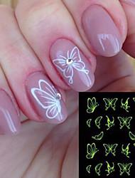 Недорогие -Стикер искусства ногтя Наклейка для переноса воды Стикер макияж Косметические Ногтевой дизайн