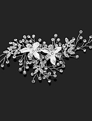 cheap -Crystal Rhinestone Alloy Flowers Hair Clip Hair Claws with Faux Pearl 1pc Wedding Special Occasion Birthday Party / Evening Headpiece