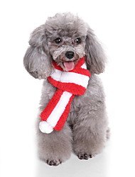 cheap -Dog Dog Scarf Christmas Dog Clothes Cartoon Gray Coffee Red Green Pink Costume For Pets