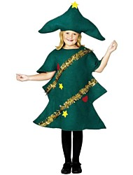 Christmas Trees Outfits Kid Christmas Festival/Holiday Halloween Costumes Green Simple Holiday