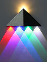 cheap -Modern Triangle 5W LED Wall Sconce Indoor Hallway Up Down Wall Lamp Aluminum Multicolor Light