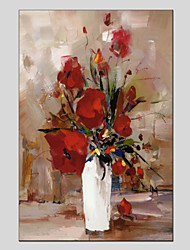 cheap -Hand-Painted Still Life Vertical Panoramic, Other Canvas Oil Painting Home Decoration One Panel