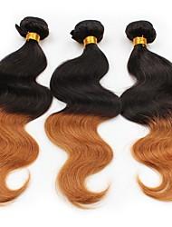 preiswerte -Peruanisches Haar Große Wellen Menschliches Haar Webarten 3 Stück 0.3