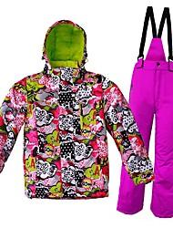 Wild Snow Veste & Pantalons de Ski Garçon Fille Ski Etanche Garder au chaud Vestimentaire Respirabilité A l'Epreuve du Vent Survêtement